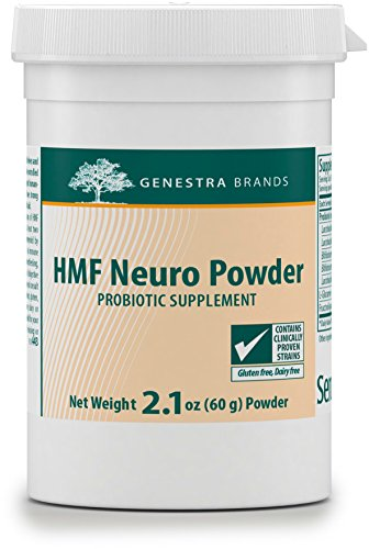 Genestra Brands - HMF Neuro Powder - Five Strains of Probiotics to Promote GI Health* - 2.1 oz (60 g) (60g Powder)