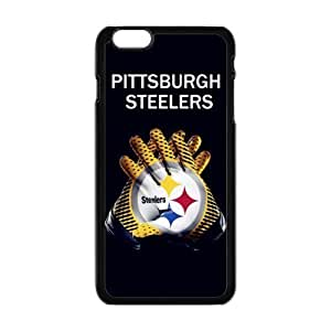 """NFL PITTSBURGH STEELERS Black Case With Hard Shell Cover for Apple iPhone 6 Plus 5.5"""""""