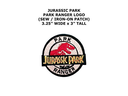Park Ranger Costume National (Jurassic Park Ranger Dinosaur Theme DIY Embroidered Sew or Iron-on Applique Patch Outlander)