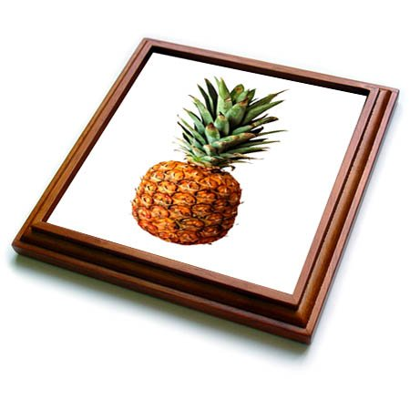 3dRose trv_269740_1 Pineapple Vector Trivet with Tile, 8 by 8''