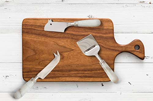 Halt Decor 3-Piece Marble Cheese Knife Set and Spreader - Collection of Stainless Steel Cheese Knives by Halt Decor (Image #1)