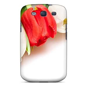 Case Cover Nature Flowers Colorful Tulips/ Fashionable Case For Galaxy S3