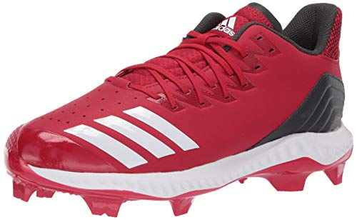 adidas Men's Icon Bounce TPU, Power red/White/Carbon, 7.5 M - Red Room Wings Locker