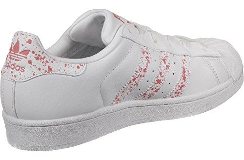 Sneaker Adidas Da Donna Superstar W, Argento Bianco Rosa