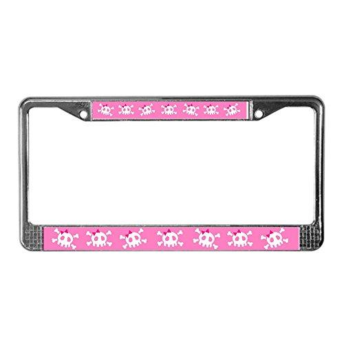 girly skull license plate frame - 9