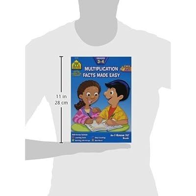 School Zone Curriculum Workbook, Multiplication Facts - Grades 3-4: Home & Kitchen