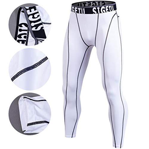 Sport Pour Homme Legging De Séchage Leggings Pantalon Blanc Ete Pantalons Running Collants Rapide Compression Vêtements Manadlian Course Hommes xqFSgZwX