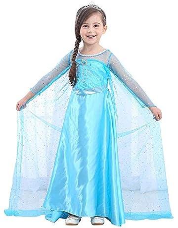 88b00d9e8137a URAQT Girls Party Outfit Fancy Princess Snow Queen Elsa Dress