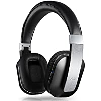 Bluetooth Headphones, iDeaUSA Wireless Headphones with Mic, Noise Reduction Headphones Foldable Over ear Headphones for TV, Sports, aptX Hi-Fi Sound Lightweight - Silver