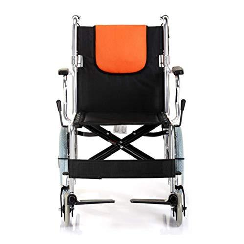 DJY-JY Silla de rehabilitacion medica, silla de ruedas, silla de ruedas plegable de peso ligero de conduccion medica, Silla de ruedas portatil ultra empuje de la luz Antiguo aleacion de aluminio Volve