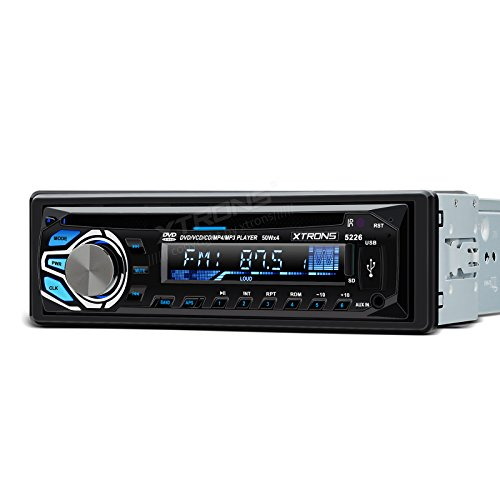 XTRONS Universal 24V In-dash 1 Single DIN Car Stereo LCD Scr