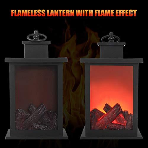 Lixada Decorative Lanterns Fireplace Lantern Flameless LED Lantern for Indoor Outdoor Hanging Lantern (Lanterns Fireplace)