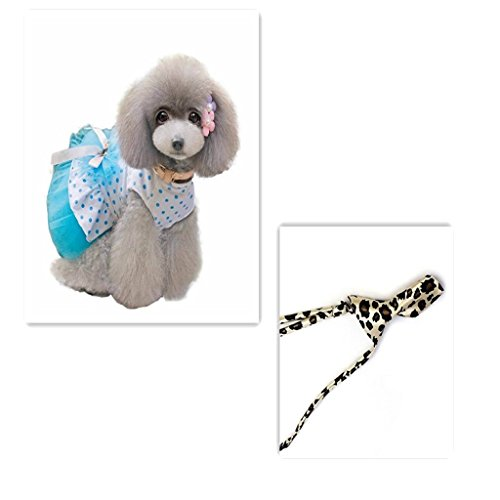 Picture of HP95(TM) Pet Dog Dress, 2015 Romantic, Lovely, Puppy Dog, Princess, Tutu, Dress (Blue, M)