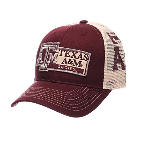 (NCAA Texas A&M Aggies Men's Interstate Trucker Cap, Adjustable, Maroon)