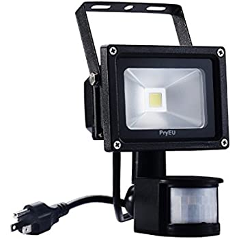 Pryeu led motion pir sensor flood light outdoor security spotlight pryeu led motion pir sensor flood light outdoor security spotlight 10w us plug in and super workwithnaturefo