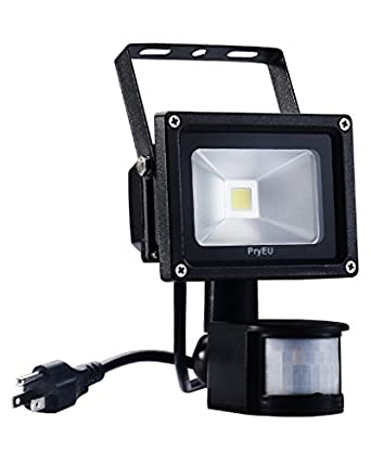 Pryeu led motion pir sensor flood light outdoor security spotlight pryeu led motion pir sensor flood light outdoor security spotlight 10w us plug in and super aloadofball Image collections