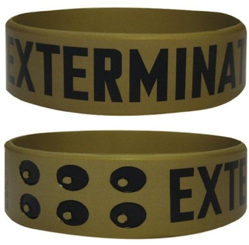 Dalek Costume Images (Official Doctor Who Gummy Wristband - Dalek 'Exterminate' (Gold))
