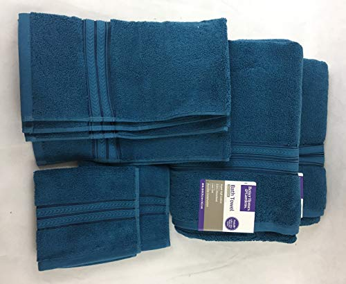Better Homes and Gardens Thick and Plush 6 Piece Towel Set - Corsair