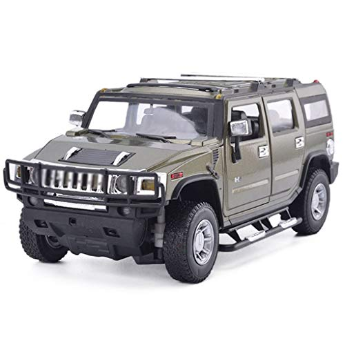 LBYMYB Hummer Model Car H2 Off-Road Vehicle 1:18 Simulation Alloy Static Toy Car Model Collection Ornaments (Color : Green)