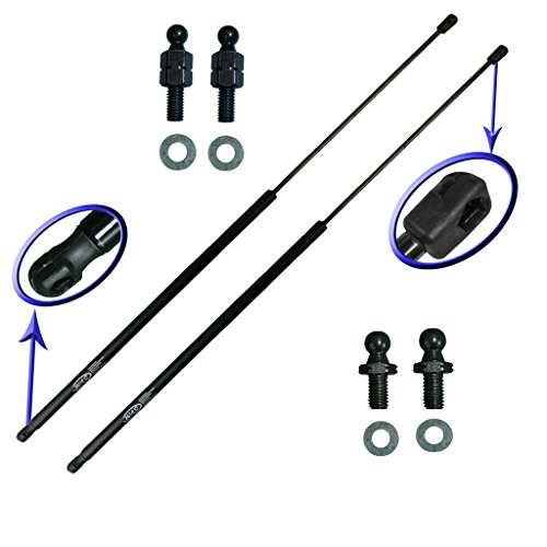 Two Rear Hatch Hatchback Trunk Gas Charged Lift Supports With 4 Replacement Studs and Washers For 1990-1993 Integra Hatchback. WGS-331-2