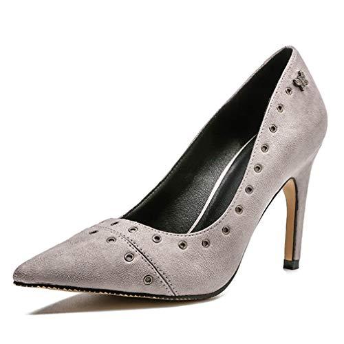 CYBLING Womens Heels Pointy Toe High Heels Womens Slip On Stilettos Studded Wedding Party Evening Dress Pumps Shoe B07GR94X14 Shoes 9ebd2c