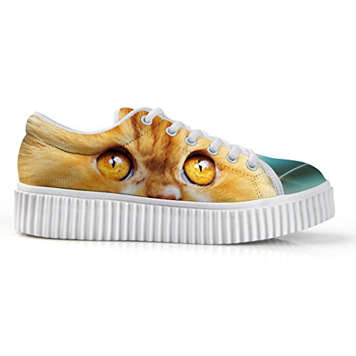Top 3D Low Fashion Cat6 Animal IDEA Platform Face Sneakers HUGS Printg Shoes p10E4Yqw