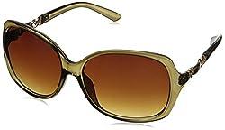 Adrienne Vittadini Women's AV1000-318 ID Bracelet Square Sunglasses, Olive Crystal, 59 mm