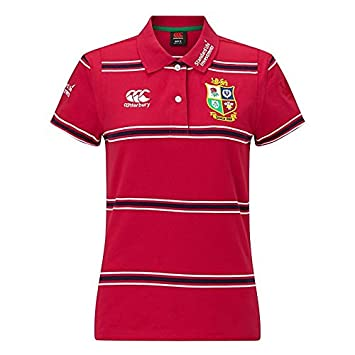 a665d7719ed British and Irish Lions Rugby Vapodri Cotton Jersey Stripe Polo - Womens -  Tango Red: Amazon.co.uk: Sports & Outdoors