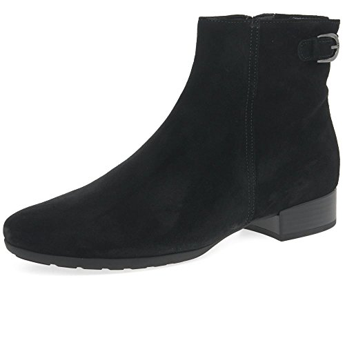 Gabor Partner Womens Suede Buckle Ankle Boots 4 C (M) UK/ 6 B(M) US Black - Boots Women Gabor