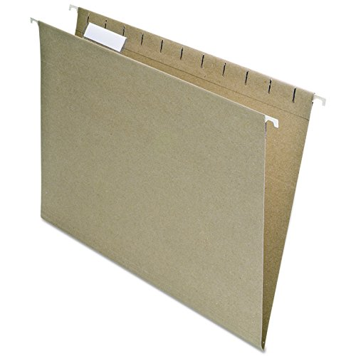 (EarthWise by Pendaflex 100% Recycled Hanging Folders, Letter Size, 1/5 Cut, Natural, 25 per Box (74542))