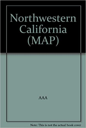Aaa California Map.Northwestern California Map Aaa Amazon Com Books