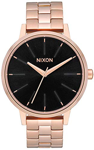 NIXON Kensington A099 - Rose Gold/Black - 50m Water Resistant Women's Analog Classic Watch (37mm Watch Face, 16mm Stainless Steel Band)
