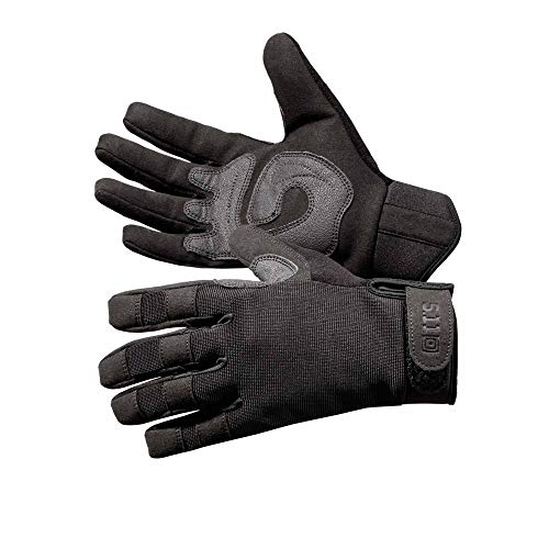 - 5.11 Tactical TAC A2 Tactical Gloves for Military/Shooting with TacticalTouch precision fingertips, Style 59340, Black, Medium