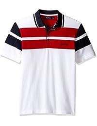 Nautica Men's Classic Fit Short Sleeve Chest Wide Stripe...