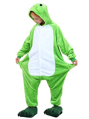 Unisex Kids Adults Animal Costume Onesie Pajamas Frog Tag 140 - Height:4'6
