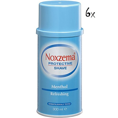 6x Noxzema Shaving Foam Cream with Menthol 300ml Dermatologically Tested!