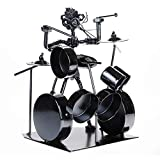 Bass Drum Coffee Table Fancinate Nuts & Bolts & Metal Musician Drummer Player Figure - 7.4