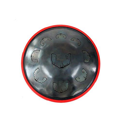 WASNET Tongue Hand Pan/Hand Pan in D Celtic mino 9 Notes Steel Hand Drum Soft Hand Pan Bag / (Steel Drum/Hand Pan/Tank Drum) 9 Notes D3, A3, C4, D4, E4, F4, G4, A4, C5 ()