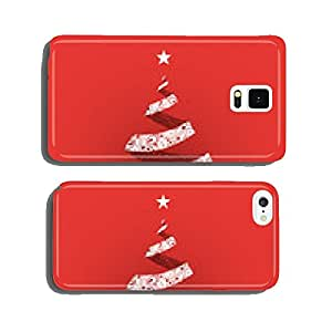 Origami Christmas Tree Card with Ornamental Pattern Design cell phone cover case Samsung S5