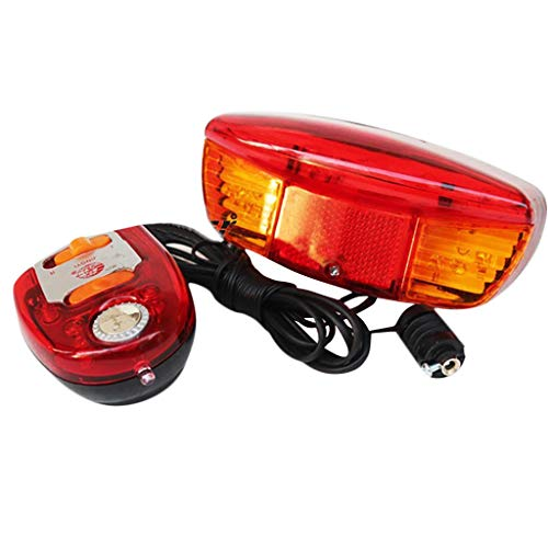 (Bike Turn Signals, 3-in-1 Brake Light and 7 LED Bicycle Turn Signal Night Lamp 8 Sound Horn, for Biking, Hiking ( Red))
