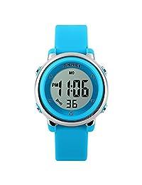 SKMEI Kids Children Digital LED Sport Jelly Waterproof Wrist Watch Blue