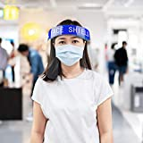 2PCS Safety Face Shield Full Protection Cap Wide