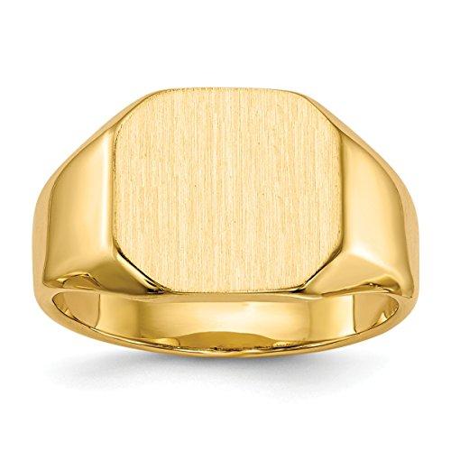 - 14k Signet Ring Open Back-