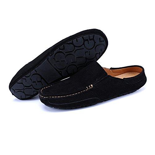 Barco color 2018 on shoes Style Zapatillas Zapatos Mulas Tamaño Hombre De Negro Yajie Para Slip Caqui Eu Mocasines 44 SqOzwOB7
