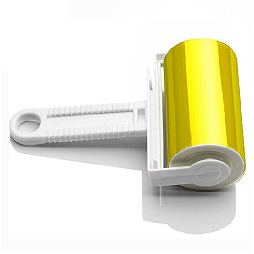 Honghong Washable Home Sheet Pet Hair Dust Remover Clothes Cleaning Sticky Lint Roller (Yellow)