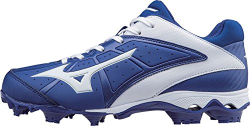 Mizuno Frauen 9 Spike ADV Finch Elite 2 Schnell Pitch Geformte Softball Cleat Königlich-weiß