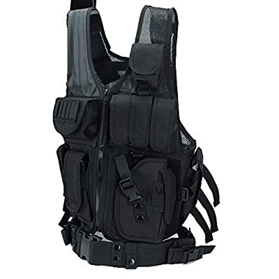 Hotsung Tactical Vest for Combat Training, Field Operations and Special Missions - Lightweight Breathable Vest, Adjustable Sizes, Unisex, 600D Assault Gear