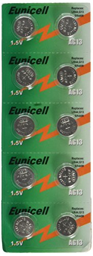 Top lr44/ag13 button cell batteries 10 pack