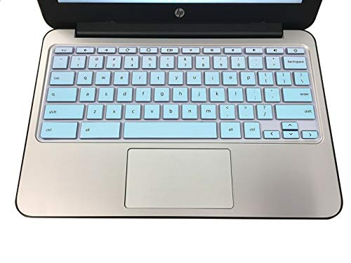 MUBUY Keyboard Cover Skin Fit HP Chromebook 11 G1 G2 / G3 / G4 / G5 / G6 EE 11.6 Inch | 2019 2018 HP Chromebook 14 G2 G3 G4 Touch 14-ca 14-ak HP Chromebook x360 11.6 -Mint Green