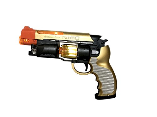 SY JOYSAE Blade Runner Gun Pistol Toy with Gunfire Sounds | Durable Design, Nonslip Grip, Rotating Bullet Chamber & Lights | for Pretend Play, Parties, Halloween, Police & Cowboy Dress Up Toy Gun -